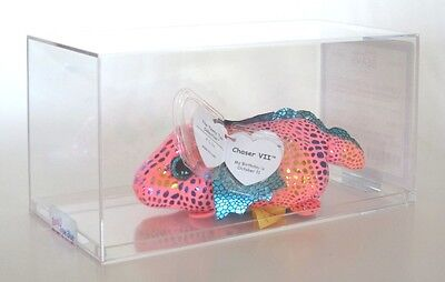 Authenticated TY Teeny Tys CHASER VII #7 CANADA EXCLUSIVE PINK Dragon ULTRA RARE