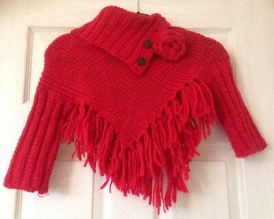 Girls Poncho With Sleeves