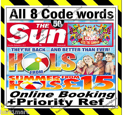 The Sun Holidays Priority Reference + 5 Code words ⇛ Everything Needed to Book