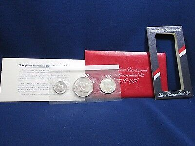 1776-1976 United States Bicentennial Silver Uncirculated Coin Set Dollar Kennedy