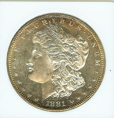 1881-S Morgan Silver Dollar  Anacs Old Holder   Ms64
