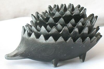 6 Hedgehog Russian Metal Stacking Porcupine Dishes Ash-tray Urchin Cigarette Old