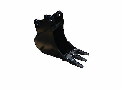 """New 12"""" Case CX50 / CX55 / CX50B - New Holland EH45 Excavator Bucket with Pins"""