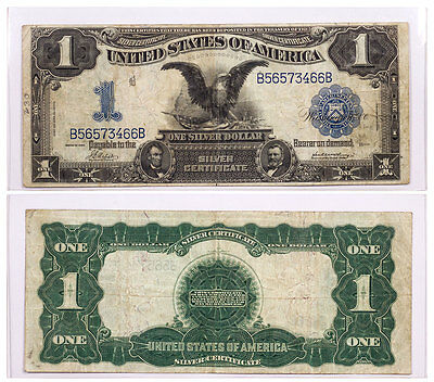 1899 $1 Black Eagle Silver Certificate - Extremely Fine - SKU38158