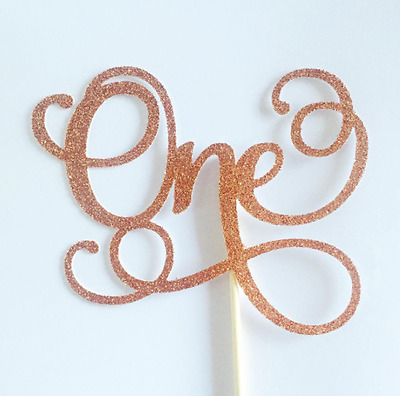 One Cake Topper - Assorted Colours - 1st Birthday - First birthday Cake Topper
