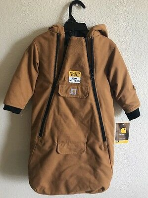 CARHARTT Infant, Canvas Rain Defender® Bunting  - NEW with Tags - Size 12 months