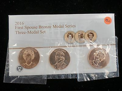 2016 FIRST SPOUSE MEDALS US Mint  3 COIN SET  FREE SHIPPING IN THE USA