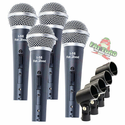 Dynamic Vocal Microphones - Cardioid Singing Handheld Recording Stage Mic Pack