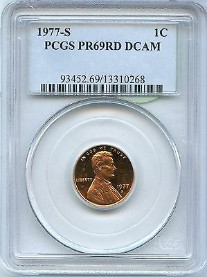 1977-S Proof Lincoln Memorial Cent PCGS PR 69 RD DCAM Certified - MM621