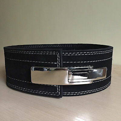 Weight Lifting black Inzer strap Lever Belt Training Power Lifting 10mm