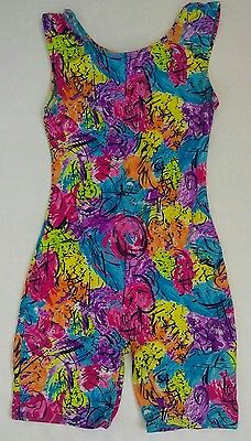 Jacques Moret Unitard Bright and Colorful Girls Size XL 14 / 16