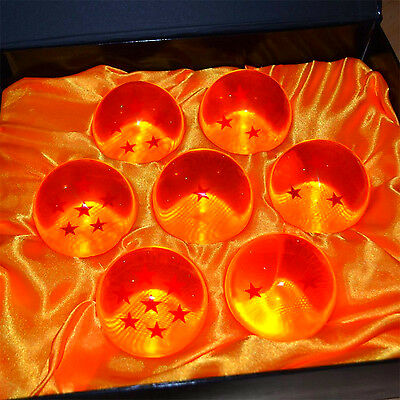 Dragonball Dragon Ball Z Stars Crystal Glass 7 Pcs Set Box Large Home Decoration