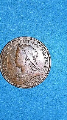 1900 Great Britain 1/2 Penny