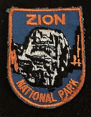 ZION NATIONAL PARK Vtg Patch UTAH State Souvenir Travel VOYAGER Embroidered