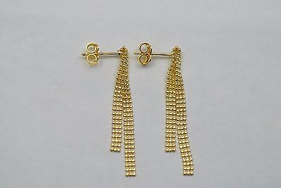 14K gold stud hanging earrings