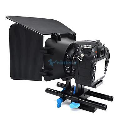 15mm Rail Rod Support System Baseplate Mount For DSLR Follow Focus Rig Mattebox