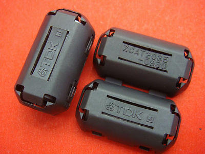 4pcs TDK EMI Filter Ferrite Core 9mm Clip On Brand New