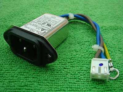 50, Delta 6 Amp 250V AC Power IEC Inlet EMI Filter