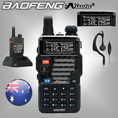 New Baofeng Misuta UV-5R 136-174/400-520MHz 2 Way UHF/VHF FM Walkie Talkie Radio