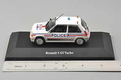 Atlas 1/43th Renault5 GT Turbo Diecast Metal Vehicle Police Car Model Collection