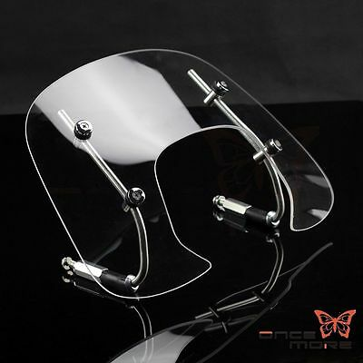 4mm Thick Clear Motorcycle Fly Screen Flyscreen Windshield For Vespa Spring 150