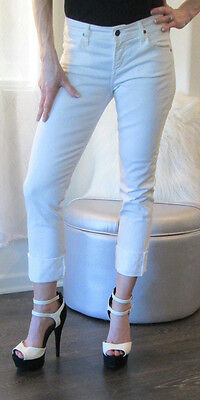 Citizens of Humanity DANI straight leg cropped white denim jeans size 26x25