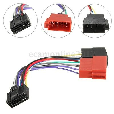 For KENWOOD 16 Pin Car Stereo Radio ISO Wiring Harness Connector Cable Wire Loom