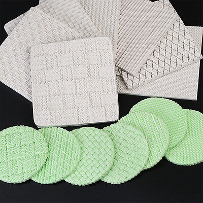 Fondant Silicone Mold Knitting Sweater Texture Embossed Mat Baking Pattern Tool