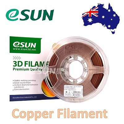 eSUN eCopper 3D Print Filament 1.75mm 1kg Bronze Metal Filament