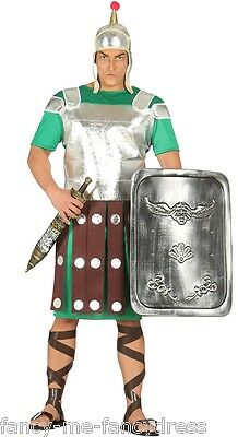 Mens Roman Guard Ancient Greek Historical Fancy Dress Costume Outfit Large