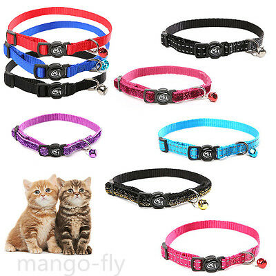 Pet Puppy Cat Rabbit Collar Reflective Safety Adjustable Elastic Bell Lead Leash