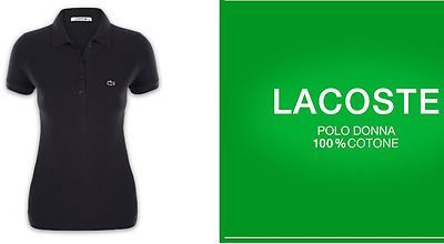 T-Shirt Polo Donna/bambina Lacoste Cotone Xs Slim Fit