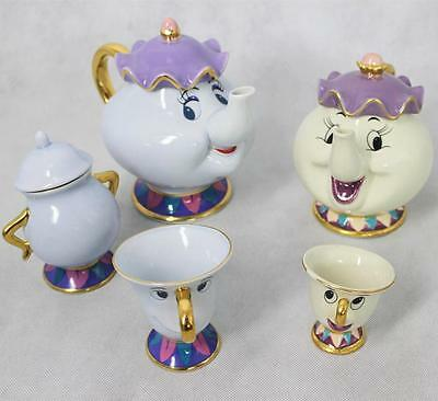 Beauty and the Beast Teapot Mrs Potts Cup Coffee Mug Chip Bowl Ceramic Pot Jar