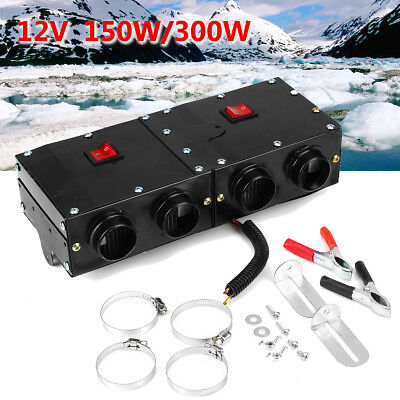 12V 150W/300W Car Travel Alloy Heater Warmer Thermostat Fan Defroster Demister