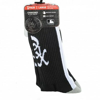 47 Brand Chicago White Sox Black Bolt Sock Crew schwarz Socken Strümpfe unisex