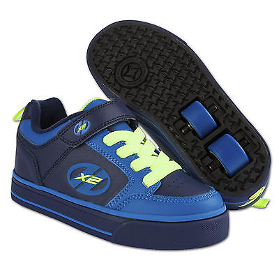 Heelys X2 Thunder Boy Gr. 32 Navy Royal Neon Yellow ~ Kinder Schuhe Mit Rollen