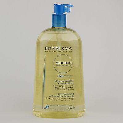Bioderma Atoderm Shower Oil 1L Sensitive, very dry, irritated skin, soap free.