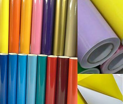 Self Adhesive Vinyl Roll Cutting Foil Film Gloss Sign Sticky Back