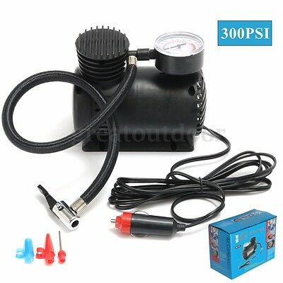 300PSI 12V Portable Mini Air Compressor Auto Car Electric Tire Inflator Pump AU