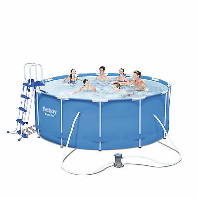 Bestway 12ft x 48in Frame Swimming Pool + filter pump ladder ground cloth #56420