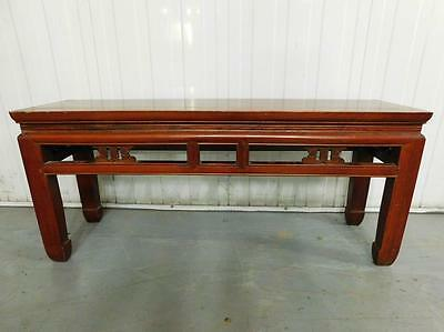 AUC9 Antique Traditionally made Chinese Wooden Long Bench Seat