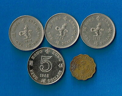 Hong Kong  - Bulk MIXED CURRENT Set of coins for travellers or Collectors
