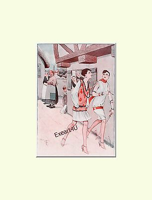 Rene Giffey Art Deco Gay Mode Fashion Beaty Art Print Kunstdruck c1927