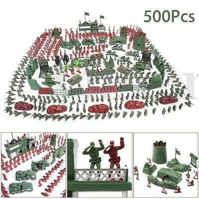 500Pcs Soldier Boys Toy Kit Plastic Army Men Party Bag Fillers Accessories Model