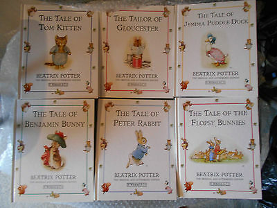 Beatrix Potter 6 X Small Hardback Book Excellent Condition As New