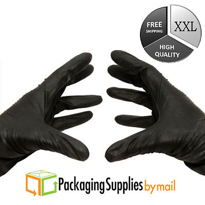 Disposable Black Nitrile Gloves Powder & Latex Free 3.5 Mil 2Xlarge 10000 Pieces