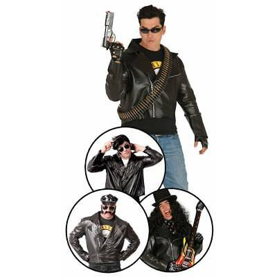 Mens Biker T-Bird Grease Jacket 1950u0027s Danny Fancy Dress Adult Costume  sc 1 st  PicClick UK & MENS BIKER T-BIRD Grease Jacket 1950u0027s Danny Fancy Dress Adult ...