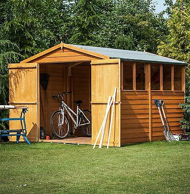 10x8 Overlap Wooden Shed Double Door