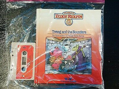 1985 Teddy Ruxpin (Tweeg and the Bounders) Cassette Tape And Book