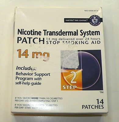 Nicotine Patch Transdermal System 14mg 14 PATCHES Step 2 Exp 05/2018+